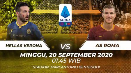 Berikut tersaji prediksi pertandingan Serie A Liga Italia 2020/21 antara Hellas Verona vs AS Roma yang akan berlangsung pada Minggu (20/09/20) pukul 01.45 WIB. - INDOSPORT
