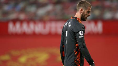 David De Gea usai jadi pusat pemberitaan media Inggris dan Spanyol usai lakukan blunder di ajang UEFA Nations League. - INDOSPORT