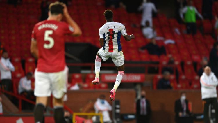 Selebrasi Wilfried Zaha usai Crystal Palace mengalahkan Manchester United Copyright: Shaun Botterill/Getty Images