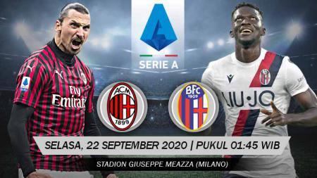 Link Live Streaming Pertandingan AC Milan vs Bologna (Serie A Italia). - INDOSPORT