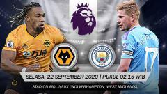Indosport - Berikut ini link live streaming pertandingan Liga Inggris, Selasa (22/09/20) pukul 02.15 WIB antara Wolves vs Manchester City di Molineux Stadium.
