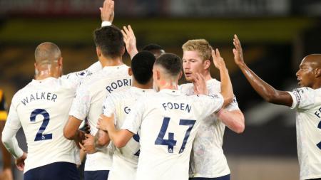 Manchester City harus mengakui keunggulan lawannya, Leicester City saat melakoni laga lanjutan di Liga Inggris musim ini. - INDOSPORT