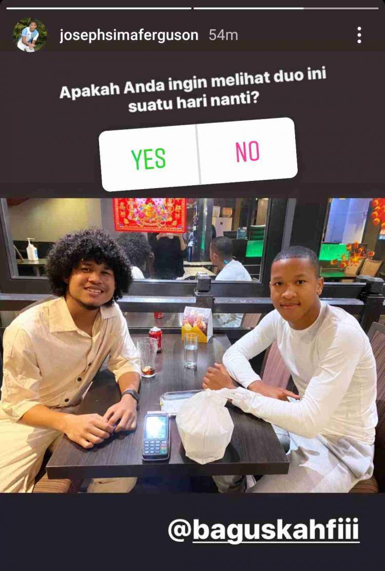 Bek muda asal Inggris, Joseph Ferguson Simatupang berharap bisa duet dengan striker Timnas U-19, Bagus Kahfi. Copyright: Instagram/Joseph Simatupang