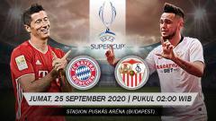 Indosport - Berikut link live streaming pertandingan UEFA Super Cup antara Bayern Munchen vs Sevilla, Jumat (25/09/20) dini hari WIB.