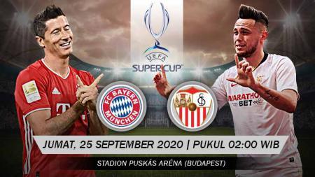 Berikut link live streaming pertandingan UEFA Super Cup antara Bayern Munchen vs Sevilla, Jumat (25/09/20) dini hari WIB. - INDOSPORT