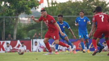 (GALERI FOTO) Persija Dikalahkan Bhayangkara FC 0-1 di Laga Uji Coba