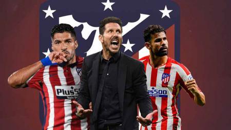 Suarez-Costa-Simeone di Atletico Madrid - INDOSPORT