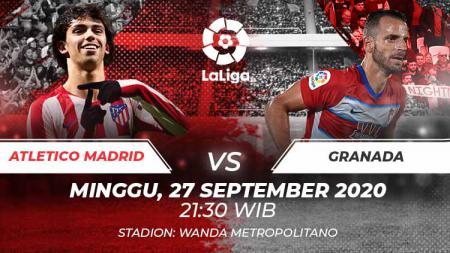 Link live streaming pertandingan LaLiga Spanyol hari ini, Minggu (27/09/20) pukul 21.00 WIB antara Atleltico Madrid vs Granada di Wanda Metropolitano. - INDOSPORT