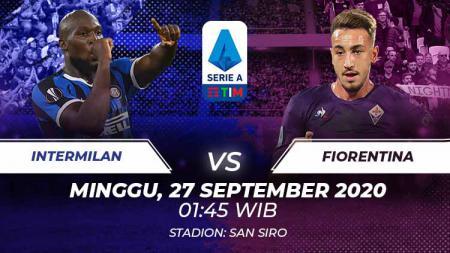 Inter Milan akan menjamu Fiorentina di Serie A Liga Italia. Pertandingan ini dapat disaksikan secara live streaming, Minggu (27/9/20) dini hari WIB. - INDOSPORT