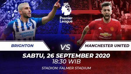 Melakoni pekan kedua Liga Inggris 2020-2021, Manchester United akan menjamu Brighton pada Sabtu (26/09/20) malam WIB. Berikut prediksi lengkap pertandingannya. - INDOSPORT