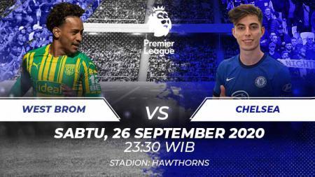 Berikut prediksi pertandingan pekan ketiga kompetisi Liga Inggris musim 2020-2021 antara tuan rumah West Bromwich Albion vs Chelsea. - INDOSPORT