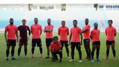 Indosport - Para pemain Borneo FC berpose usai latihan menjelang kick-off lanjutan Liga 1 2020.