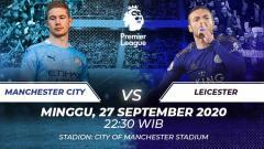 Indosport - Berikut ini link live streaming pertandingan Liga Inggris antara Manchester City vs Leicester City, Minggu (27/09/20) pukul 22.30 WIB.
