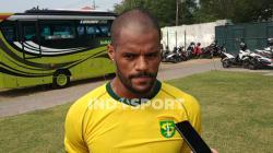 Striker klub Liga 1 2020 Persebaya Surabaya, David Da Silva, sudah tiba di Surabaya pada Jumat (25/09/20) kemarin.