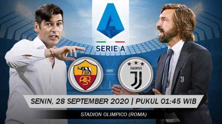 Berikut link live streaming pertandingan antara AS Roma vs Juventus di pekan ke-2 Serie A Italia 2020/21 pada Senin (28/09/20) pukul 01.45 dini hari WIB. - INDOSPORT