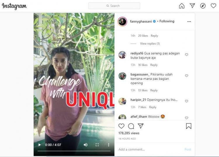 Fanny Ghassani Buka Baju Saat Olahraga, Netizen: Pikiranku Kemana-mana Copyright: instagram.com/fannyghassani
