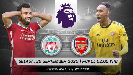 Liverpool vs Arsenal di pekan ke-3 Liga Inggris 2020/21. Laga ini dapat disaksikan secara live streaming, Selasa (29/09/20) dini hari WIB. - INDOSPORT
