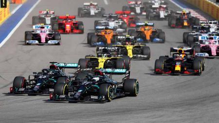 Berikut tersaji klasemen sementara Formula 1 2020 usai GP Rusia, dimana Valtteri Bottas dari Mercedes menempel ketat Hamilton dan duo Ferrari terpuruk. - INDOSPORT