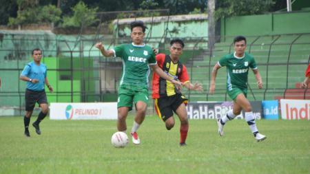 Skuat PSMS Medan saat berujicoba di Stadion Teladan Medan belum lama ini. - INDOSPORT