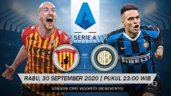 Indosport - Berikut tersaji prediksi pertandingan sepak bola Serie A Liga Italia 2020-2021 antara Benevento vs Inter Milan di Stadion Ciro Vigorito.