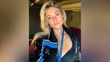 Marta Vincenzi, pacar pembalap Moto2 Luca Marini. - INDOSPORT