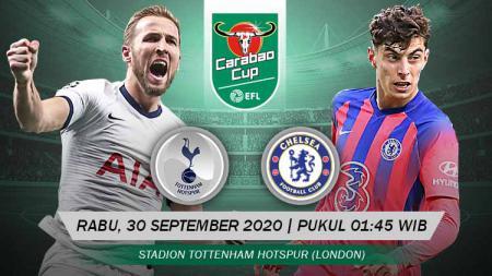 Tottenham Hotspur akan melakoni babak 16 besar Carabao Cup atau Piala Liga Inggris kontra Chelsea. Berikut prediksi lengkap pertandingan antar keduanya. - INDOSPORT