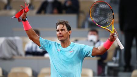 Rafael Nadal ke babak dua Prancis Terbuka (Roland Garros) 2020. - INDOSPORT