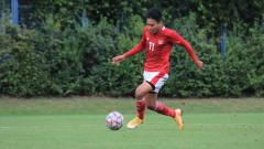 Indosport - Penggawa Timnas Indonesia U-19, Witan Sulaeman dalam laga lawan Dinamo Zagreb.