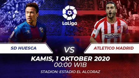 Berikut prediksi pertandingan di kompetisi LaLiga Spanyol musim 2020/2021 yang akan mempertemukan antara Huesca vs Atletico Madrid. - INDOSPORT