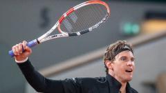 Indosport - Dominic Thiem di Prancis Terbuka 2020.