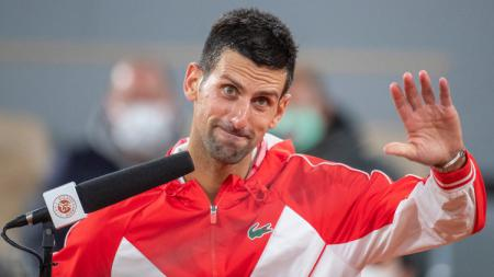Novak Djokovic di Prancis Terbuka 2020. - INDOSPORT
