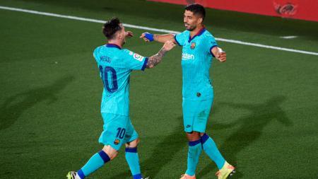 Lionel Messi dan Luis Suarez saat masih membela Barcelona - INDOSPORT