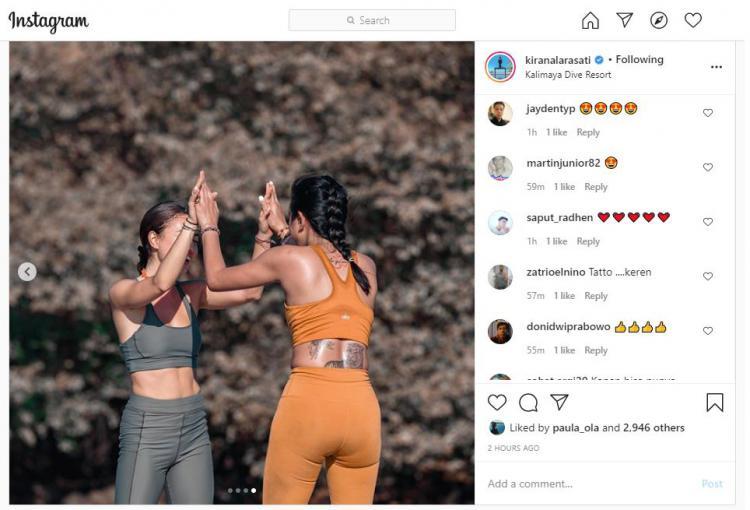Kirana Larasati Punya Teman Yoga Baru, Netizen Gagal Fokus ke Tatonya Copyright: instagram.com/kiranalarasati