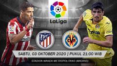 Indosport - Atletico Madrid vs Villarreal di lanjutan Laliga Spanyol, Sabtu (03/10/20). Pertandingan ini dapat disaksikan secara live streaming.