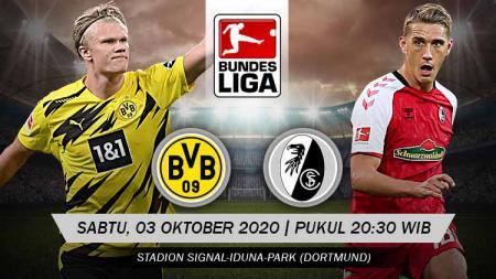 Berikut prediksi pertandingan pekan ketiga kompetisi Bundesliga Jerman musim 2020-2021 antara Borussia Dortmund vs Freiburg. - INDOSPORT