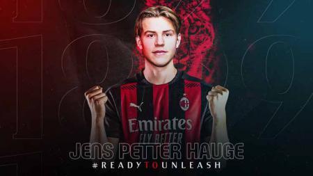 Pekan ini jadi momen istimewa bagi Jens Petter Hauge. Tak cuma resmi bergabung dengan AC Milan, ia pun untuk pertama kali dipanggil ke timnas senior Norwegia. - INDOSPORT