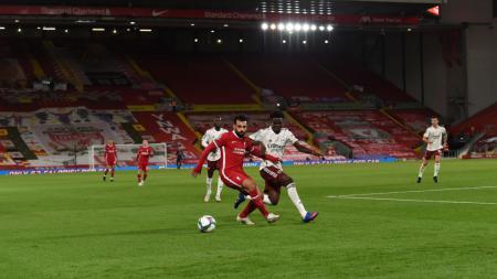 Berikut adalah hasil pertandingan babak 16 besar Carabao Cup antara Liverpool vs Arsenal yang berakhir dengan kemenangan untuk Arsenal melalui adu penalti. - INDOSPORT