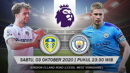 Pertandingan Leeds United vs Manchester City (Liga Primer). - INDOSPORT
