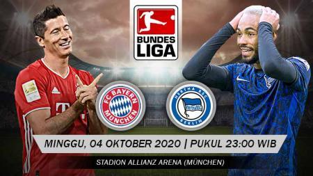 Berikut prediksi pertandingan pekan ketiga kompetisi Bundesliga Jerman musim 2020-2021 antara Bayern Munchen vs Hertha Berlin. - INDOSPORT