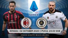 Indosport - Pekan ketiga Serie A Italia akan mempertemukan AC Milan vs Spezia. Pertandingan tersebut bisa Anda saksikan melalui live streaming.