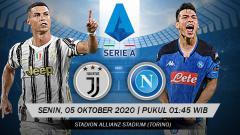 Indosport - Pertandingan Juventus vs Napoli (Serie A).