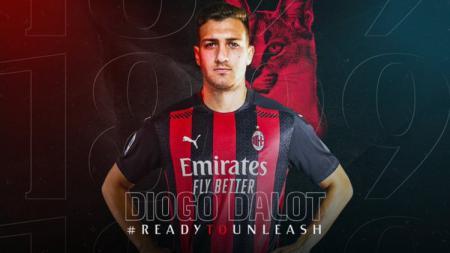 Raksasa Serie A Italia, AC Milan, tampaknya serius ingin mempermanenkan status bintang muda gagal Manchester United, Diogo Dalot, di San Siro musim depan. - INDOSPORT