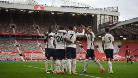 Berikut adalah hasil pertandingan pekan ke-4 Liga Inggris antara Manchester United vs Tottenham Hotspur yang berakhir dengan kemenangan telak untuk Tottenham. - INDOSPORT
