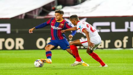 Aksi Philippe Coutinho di laga melawan Sevilla - INDOSPORT