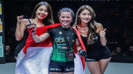 Priscilla Hertati Lumban Gaol, petarung MMA asal Indonesia. - INDOSPORT