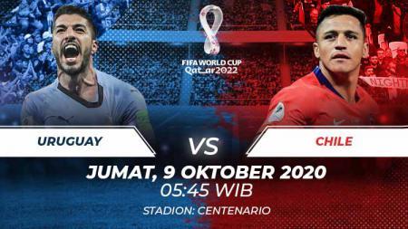 Berikut link live streaming pertandingan kualifikasi Piala Dunia 2022 yang akan mempertemukan Uruguay vs Chile. - INDOSPORT