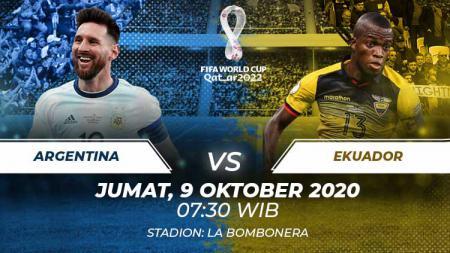 Berikut prediksi pertandingan Argentina vs Ekuador di ajang kualifikasi Piala Dunia 2022 zona Amerika Selatan di Stadion Alberto J. Armando. - INDOSPORT
