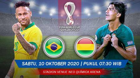 Berikut prediksi pertandingan Kualifikasi Piala Dunia 2022 zona Amerika Selatan yang akan mempertemukan antara Brasil vs Bolivia. - INDOSPORT