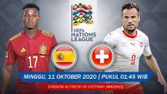 Indosport - Pertandingan Spanyol vs Swiss (UEFA Nations League).