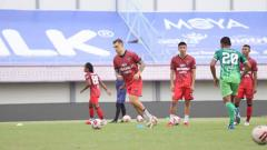 Indosport - Latihan Persita Tangerang pasca libur.
